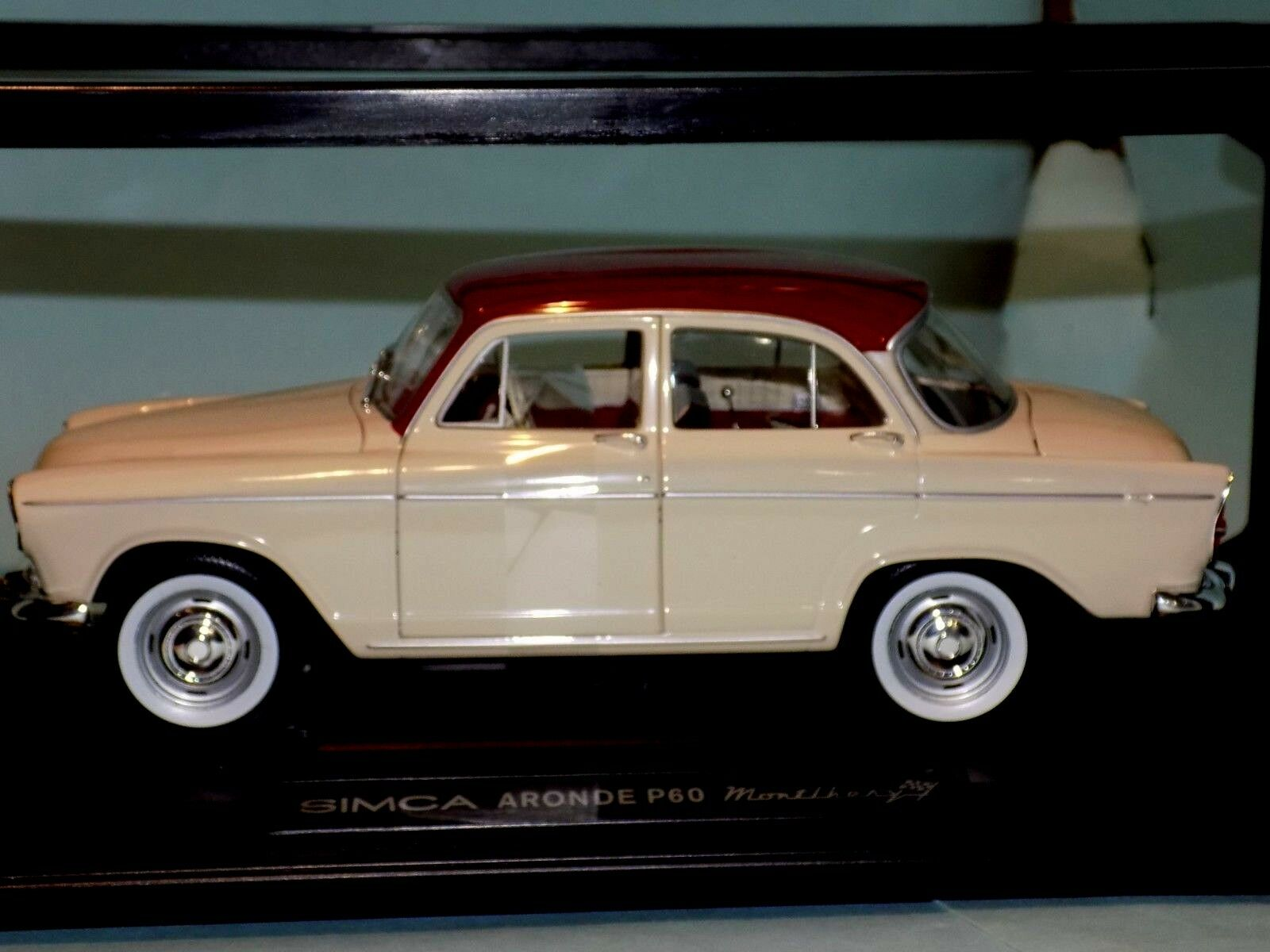 SIMCA  ARONDE P60 MONTLHERY 1962 IVORY RED  NOREV  185720  1 18