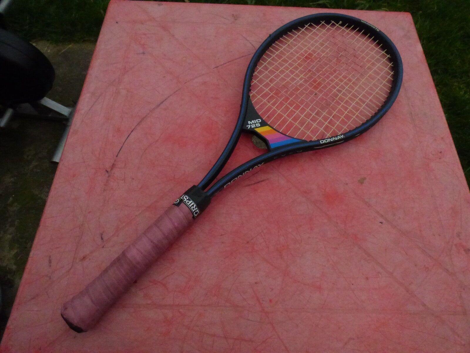 raquette de tennis vintage housse Donnay Mid 725 avec housse vintage 5ca21c