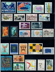 LOT-ANNEE-1994-TIMBRES-OBLITERES