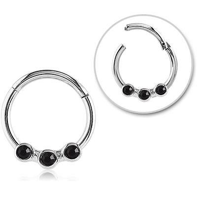 Jewelry Watches Body Piercing Jewelry Hinged Septum Clicker Hoop
