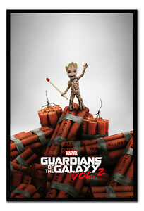 Guardians-Of-The-Galaxy-Vol-2-Groot-Dynamite-Poster-Framed-Cork-Pin-Notice-Board