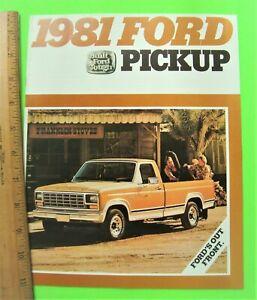1981-FORD-PICK-UP-TRUCK-COLOR-CATALOG-Brochure-20-pgs-XLT-Lariat-FLARESIDE-Xlnt