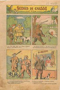 Caricature-Scenes-de-Chasse-Chasseurs-Chiens-Vache-Lievre-Gibier-Boucherie-1931