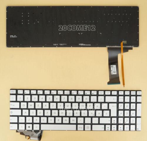 NEW for ASUS R555ZU N751J N751JK N751JX Keyboard Backlit Italian Tastiera Silver
