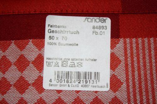 """Sander Weihnacht Geschirr-Küchen-Trockentuch /""""Fairbanks/"""" Sterne Tanne Baumwolle"""