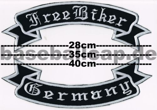 Patch écusson FREE Biker GERMANY 2 Dos Boucle Dos Patch 28-35 O 40 cm