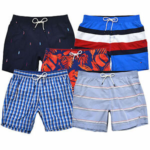 685ff0dd1d697 Tommy Hilfiger Mens Swim Trunks Bathing Suit Lined Shorts Flag Logo ...
