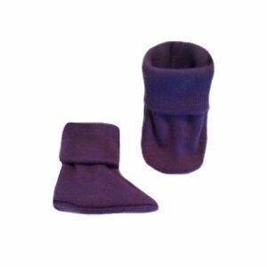 Cute Crib Shoe Socks Unisex Baby Navy Blue Booties Preemie and Newborn Babies up to 0-6 Months. 5 Sizes for NICU Micro Preemies