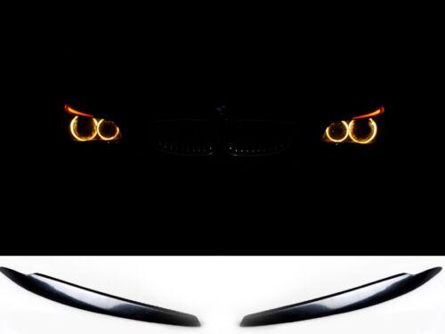 für BMW E82 E87 E81 Hatchback boeser blick scheinwerfer blende shürze eye brows