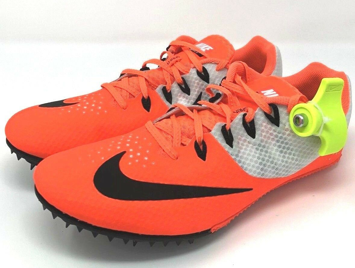 Nike Zoom Rival S 8 Men's Track Spikes Bright Orange/ White 806554-800 Comfortable Great discount