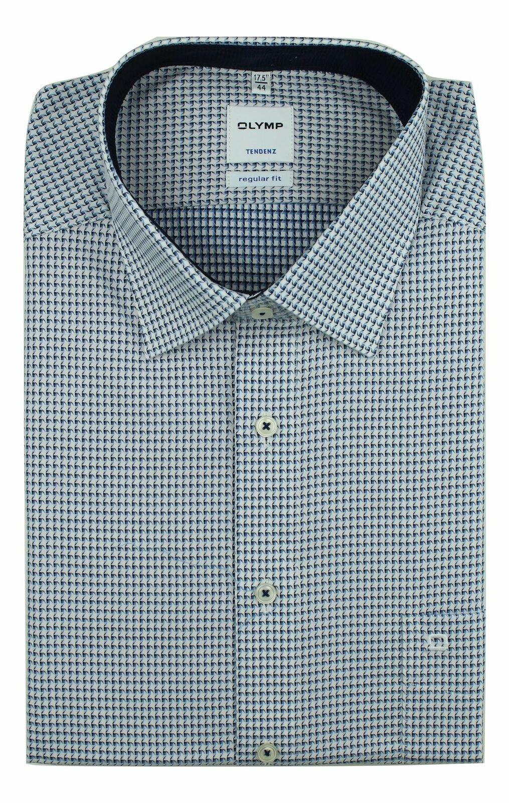 Blue Mix Pattern Spread Collar