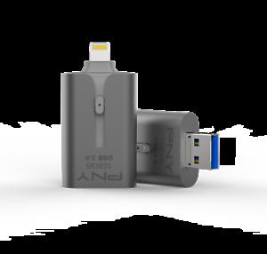 Lot-de-3-Cles-USB-PNY-128Go-OTG-Apple-USB-3-0