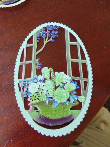 Tattered Lace Die Cuts Charisma Colourcut WINDOW DISPLAY floral basket x10