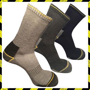 3 calze calzini da lavoro uomo donna corti rinforzati cotone antinfortunistiche