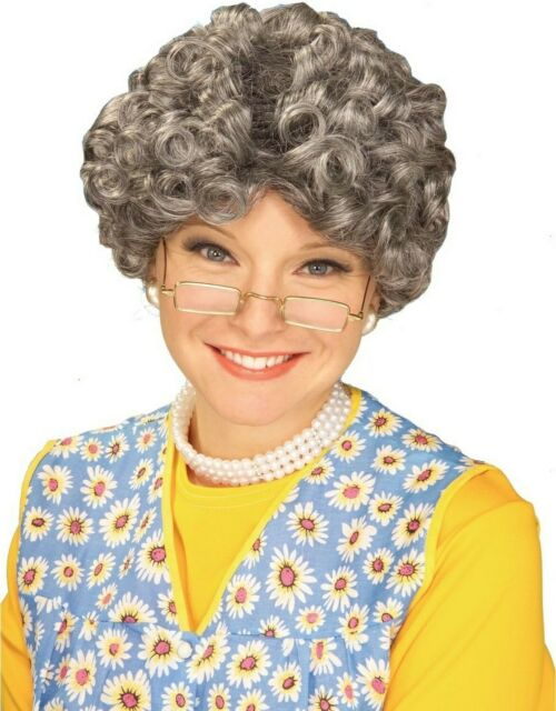 Yo Momma Gray Old Lady Wig Mamma Halloween Madea Granny Grandmother