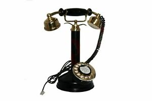 New-Antique-Style-Maharani-Phone-Queen-Telephone-Black-Old-Vintage