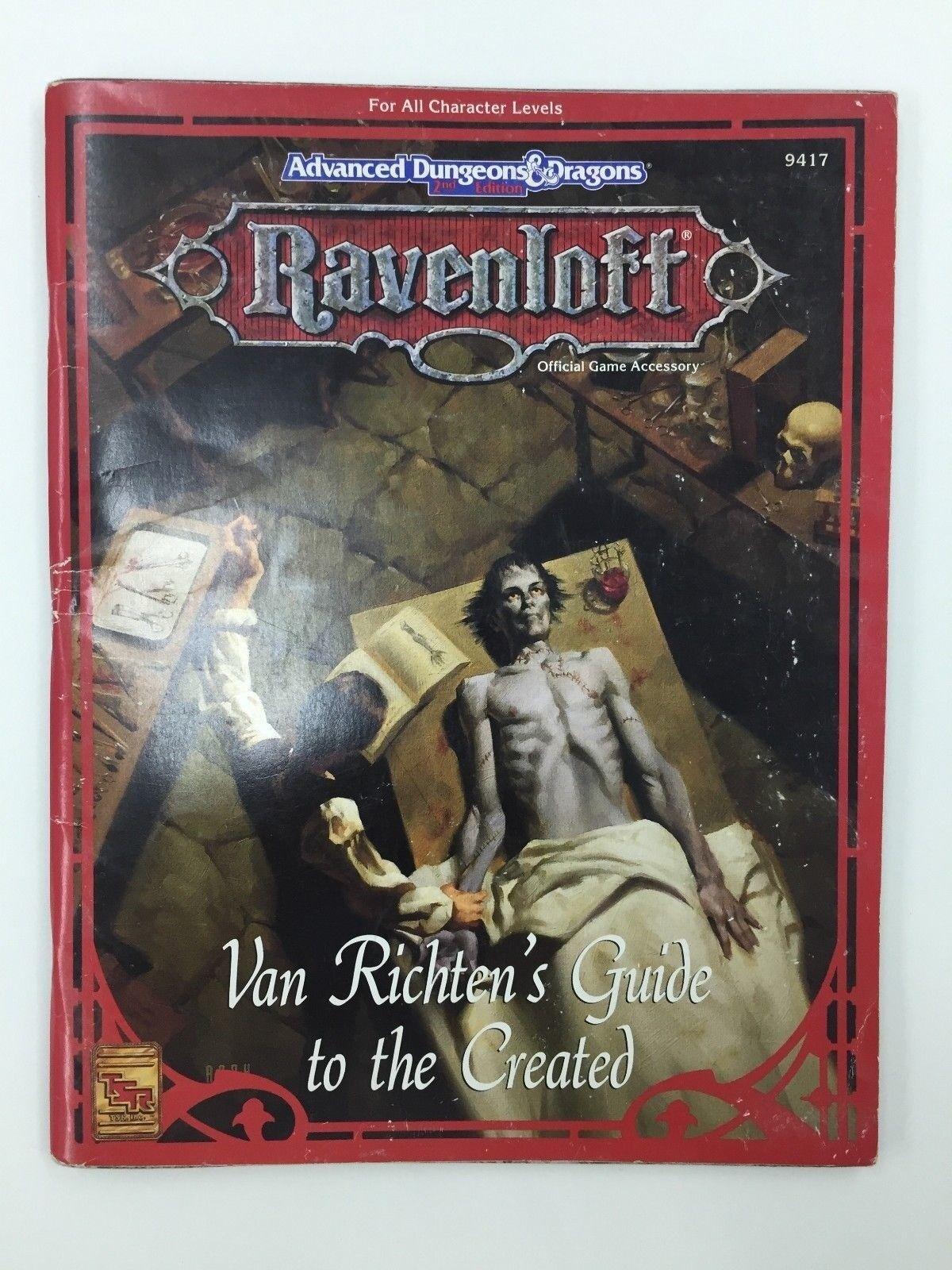 TSR Avancé Dungeons & Dragons Ravenloft Van RICHTEN'S Guide pour le Créé