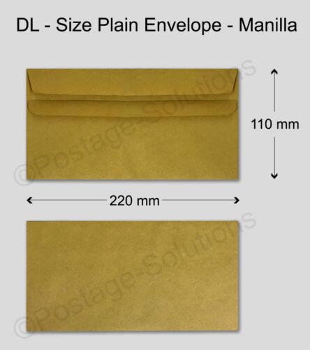 Colore marrone dimensioni DL Buste Plain Self Seal 80gsm buona qualità più economico 1000 X