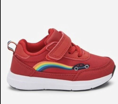 Bnwt Próxima Transporte De Encaje Rojo Elástico Zapatillas Boys-UK 9 EU 26.5 joven