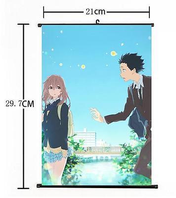 "Hot Anime A Silent Voice Koe no Katachi Home Decor Poster Wall Scroll 8/""×12/"" 03"