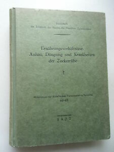 Ernaehrungsverhaeltnisse-Anbau-Duengung-Krankheiten-Zuckerruebe-1927-Ernaehrung