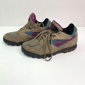 Nike-Men-039-s-RARE-80s-90s-Purple-Suede-Hiking-Boots-931202-IB-Low-Sz-8