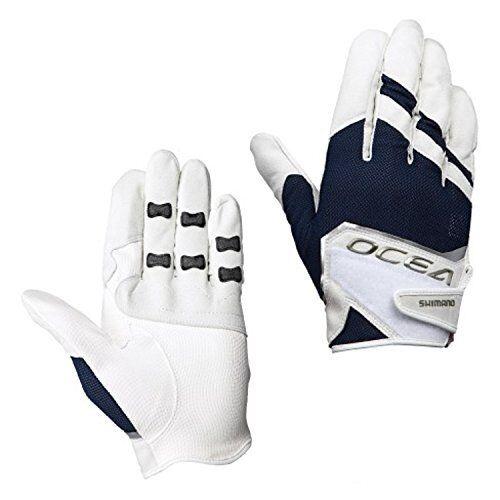 Shimano Glove OCEA 3D stretch mesh glove glove mesh Weiß navy M GL-245P Japan 982066