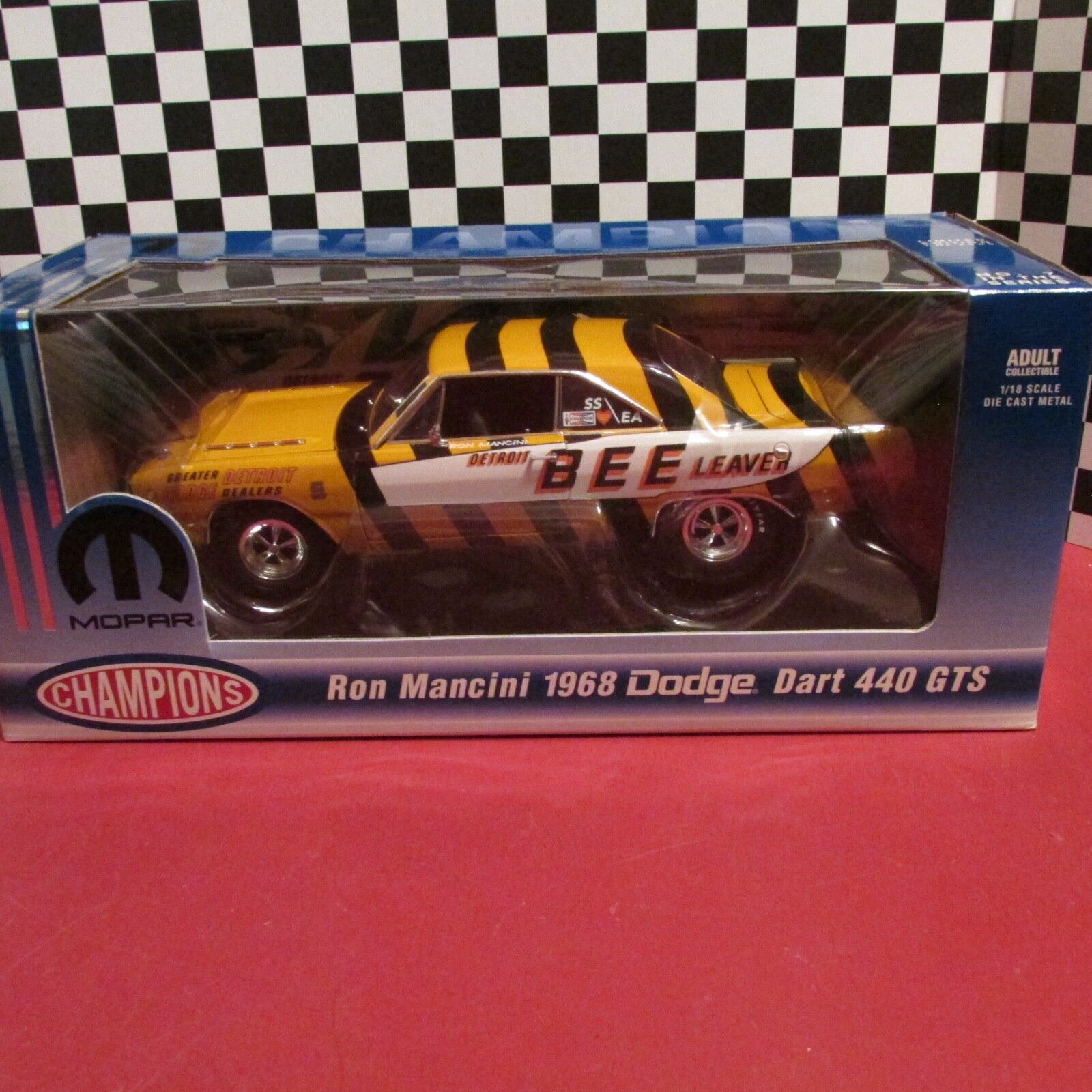 Ertl,DCP,1968 Dodge Dart,440 GTS, Ron Mancini 1:18 scale diecast model,LE,1/2500