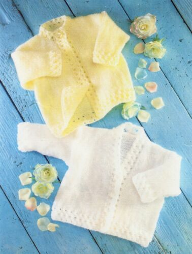 Baby DK Knitting Pattern Cardigan/'s Round and V-neck   Sizes 16-20 inches #131