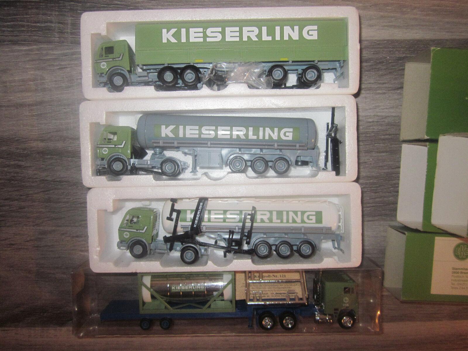 4 x diferentes vehículos de kieserling transportista nuevo + embalaje original