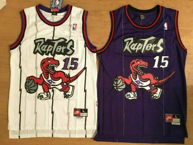 Vince Carter Basketball Swingman Throwback Retro Jersey #15 Toronto Raptors Tops