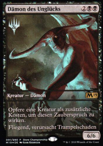 PromoGer Demon of misfortune Foil//Demon of catastrophesEXStore Champ