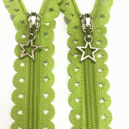 12//16inch Star Lace Closed End Zippers 3# Nylon Sewing 5-10Pcs (20 color)~!!!