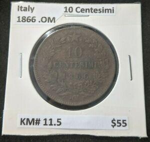 Italy 1866 .OM 10 Centesimi KM# 11.5      #069