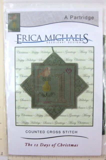 Erica Michaels 12 Days Christmas Partridge Cross Stitch Ornament