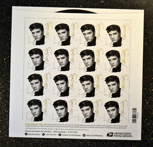 2015USA-5009-Forever-Elvis-Presley-Sheet-of-16-Stamps-Mint-NH-music-icon