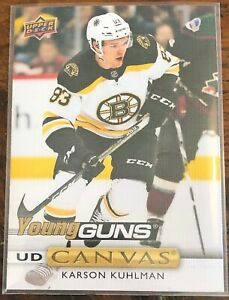 Boston-Bruins-Karson-Kuhlman-UpperDeck-2019-20-Series-1-Young-Guns-NHL-Card-C107