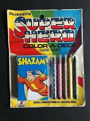 SHAZAM SUPER HERO VINTAGE COLOR-A-DECK CARD GAME   eBay