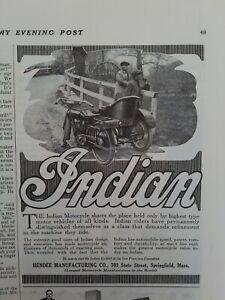 Vintage Indian Motorcycle Ad | Indian Motorcycle Vintage