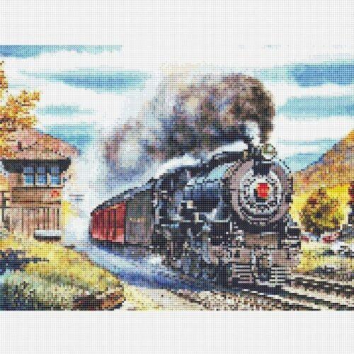 DIY Christmas Gifts Diamond Painting Kits Train Picture Full Drill Rhinestone