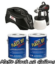 Plasti Dip 2 Gallon Kit Of Matte Black Dyc Dipsprayer System Gun Bundle