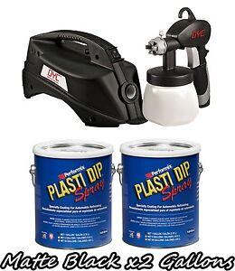 Details about Plasti Dip 2 Gallon Kit of Matte Black + DYC DipSprayer  System Gun Bundle