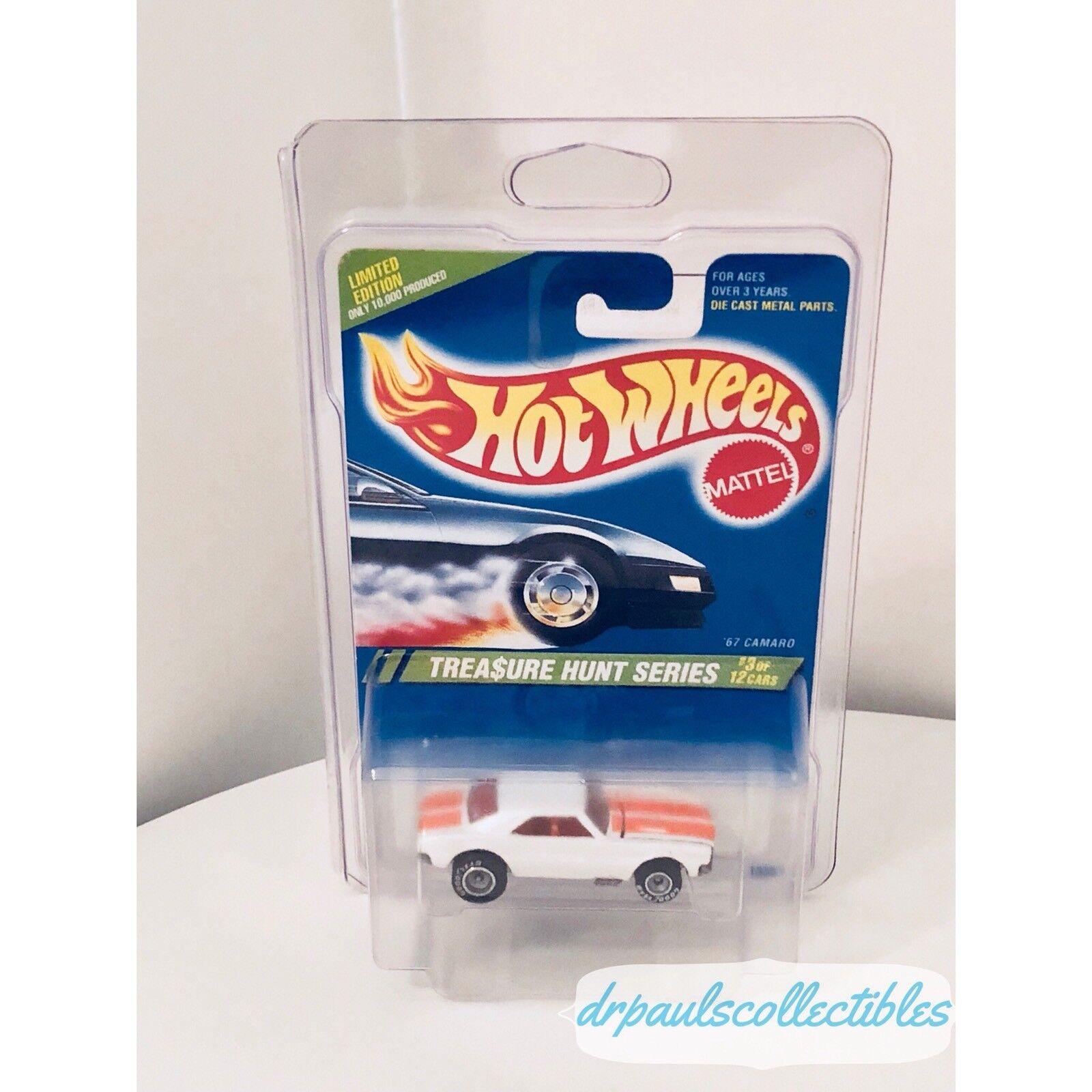 """il più recente Caliente Ruedas '67 Camaro bianca 1995 Treasure Hunt Hunt Hunt """"Grail auto"""" Bre nuovo W Prossoector  consegna gratuita e veloce disponibile"""