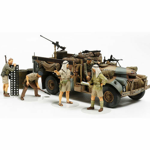 TAMIYA LRDG with 7 figures 32407 1 35 Military Model Kit
