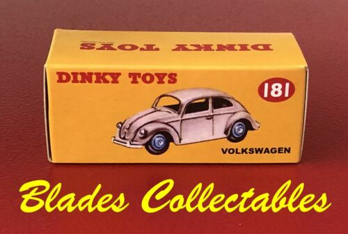 Repro Dinky Volkswagen Beetle 181 Box only-FREE POST