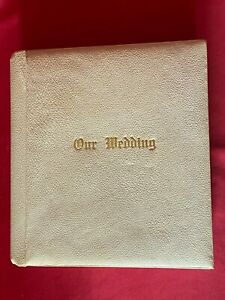 """Vintage """"Our Wedding"""" Photo Album from 1947 Black & White 30 - 10"""" x 8"""" Pictures"""