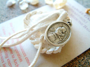 ARCHANGEL GABRIEL CRYSTAL MEDICINE BAG Pocket Size Deer Pouch w Reiki Gemstones