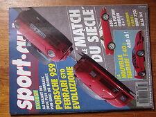 $$v Revue sport auto N°307 Porsche 959  Ferrari GTO  Ferrari F40  GP France