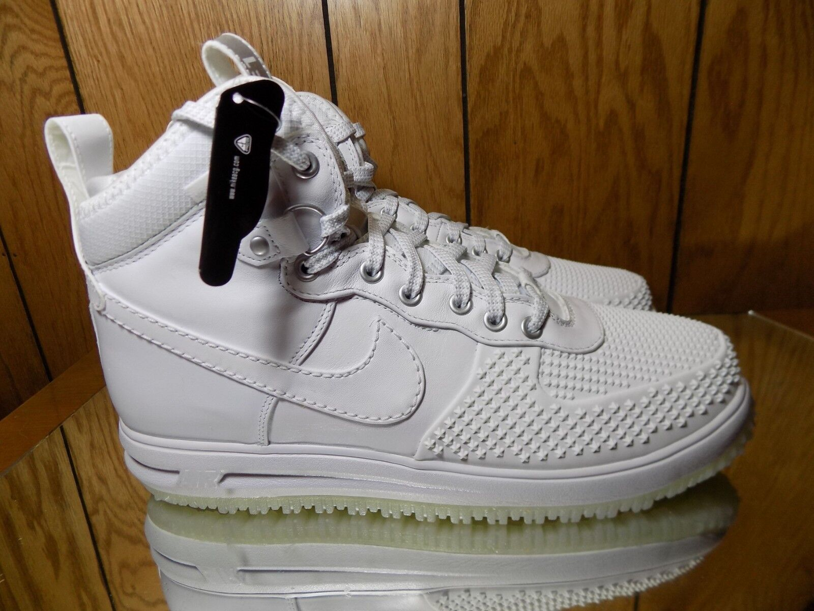 Nike Lunar Force 1 Duckboot AF1 805899-101 Triple White Mens 10.5 NEW