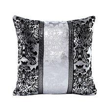 Bling Black Silver Waist Throw Pillow Case Cushion Cover Sofa Home Cars Decor